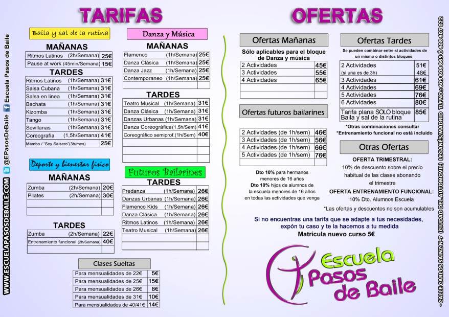 Precios Escuela de Baile en Leganés - PASOS DE BAILE