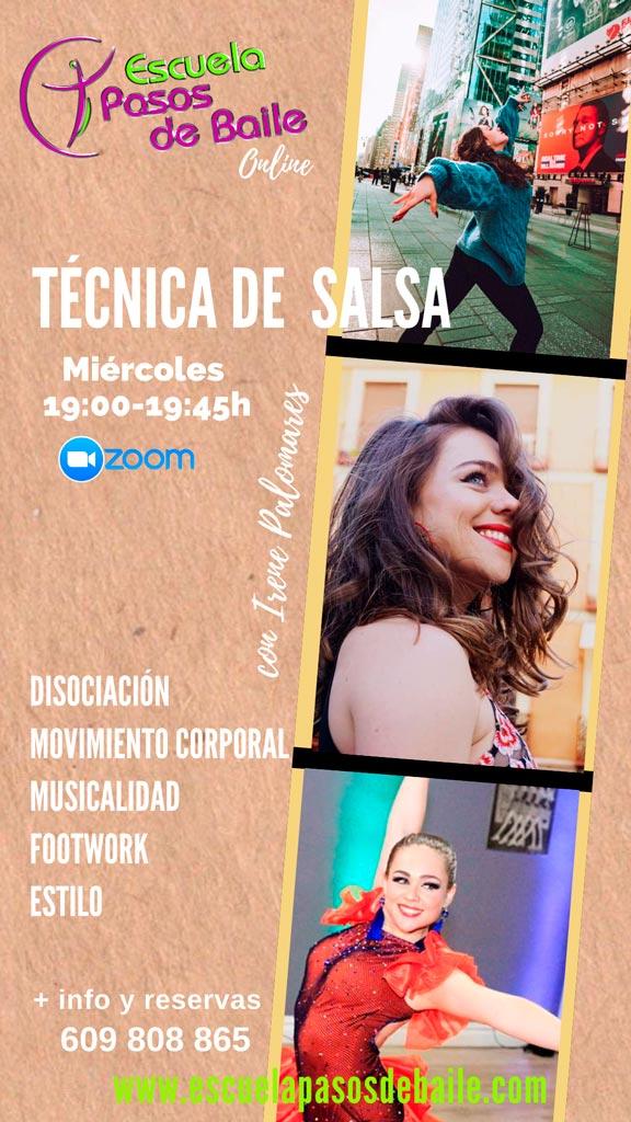 Nuevas clases de baile online - Técnica de salsa - ESCUELA PASOS DE BAILE