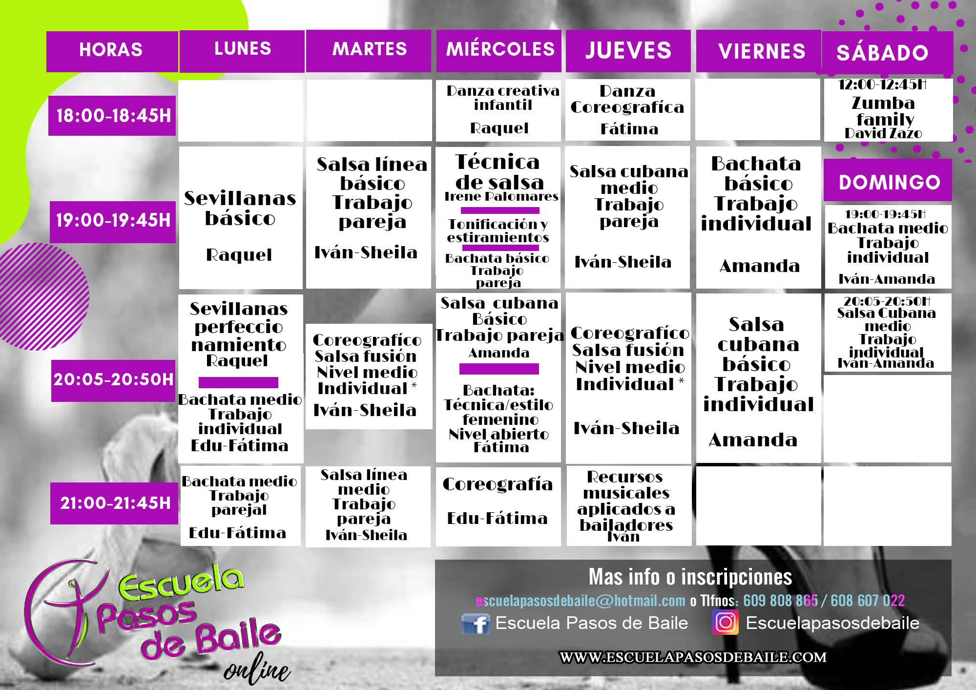 Clases de baile online - ESCUELA PASOS DE BAILE